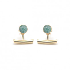 Boucles d'oreilles Ariane pendants barres - Amazonite