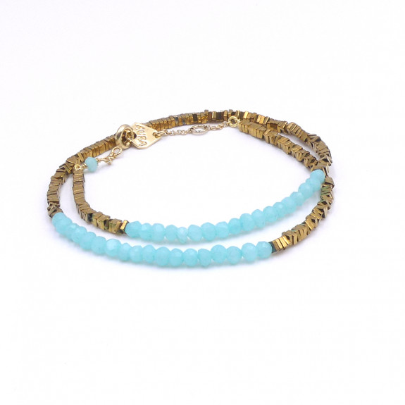 Bracelet Double Myriade - Amazonite