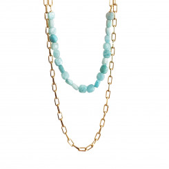 Collier Double Berlingot - Amazonite
