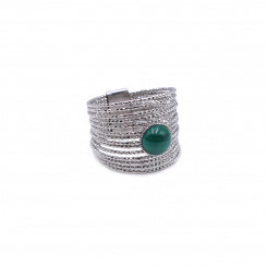 Bague Ariane Palladium - Malachite