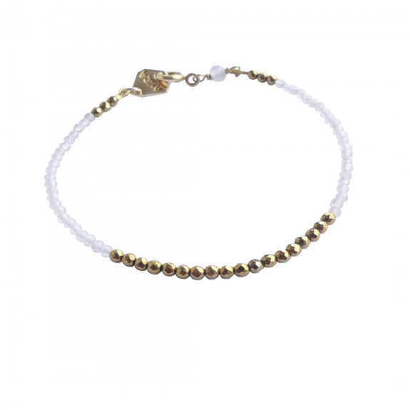 Bracelet Filigrane - Quartz Rose