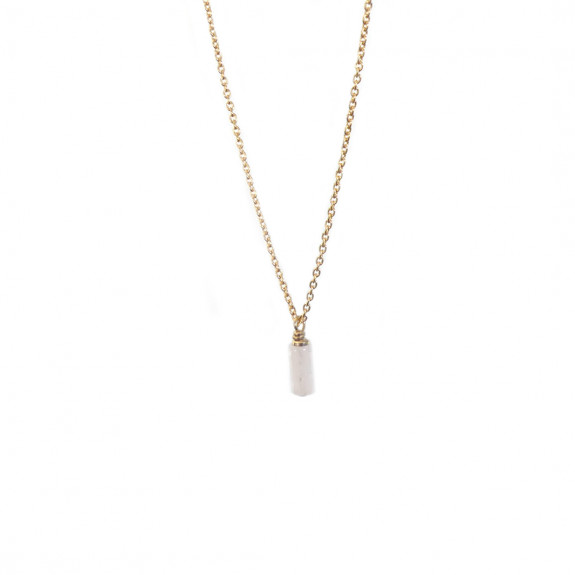 Collier Mini Mémoire - Quartz Rose