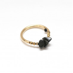 Bague Initiale - Onyx