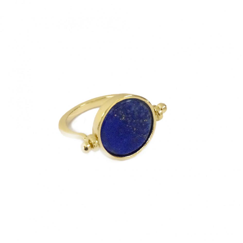bague or et lapis lazuli
